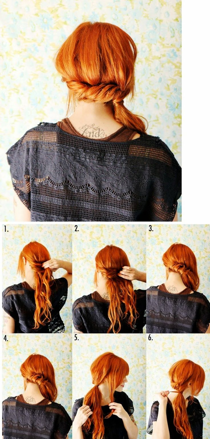 How To : A Twisted Side Ponytail