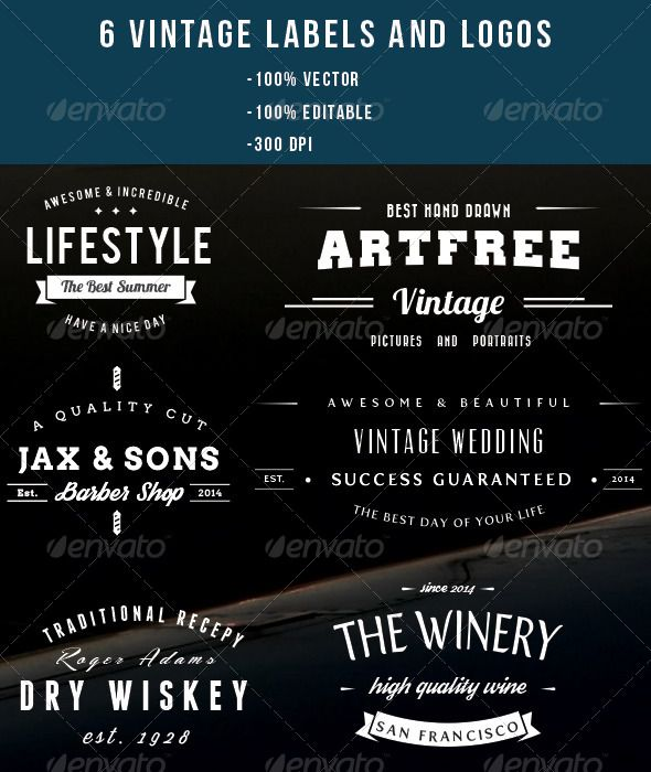 6 Vintage Logos And Labels