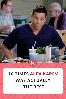 The first seasons of Grey's Anatomy made us love and hate Alex Karev. But here's a list that proves Alex is actually the best. Grey's Anatomy Love.  Greys anatomy Alex Karev is actually the best guy on the show. Mcdreamy. Mcsteamy. Alex and Jo. Alex and Izzy. Justin Chambers, Meredith Grey, Sloan Memorial, Grey's Best, Grey's favorite moments, Karev Favorite moments, Alex Karev scenes.