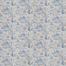 Indigo Asian Drapery and Upholstery Fabric by Fabricut