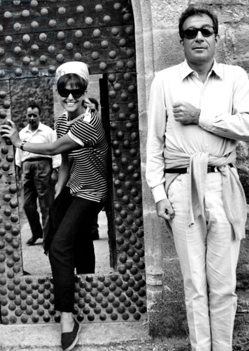 Ugo Tognazzi e Claudia Cardinale