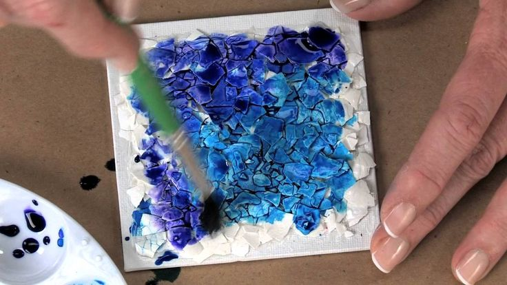 """Watercolor """"Crunch"""", eggshell texture or mosaic - Lesson Plan"""