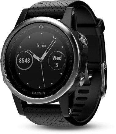 Garmin Fenix 5S Multisport GPS Heart Rate Monitor Watch Silver/Black Regular