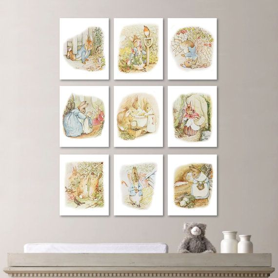 Peter Rabbit Art:  This nine-print set features nine different images from the classic story The Tale of Peter Rabbit:. Please note this is