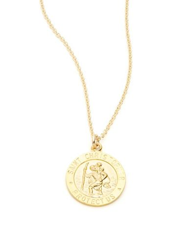 Dogeared Faith Collection St. Christopher Pendant Necklace Women's Gol