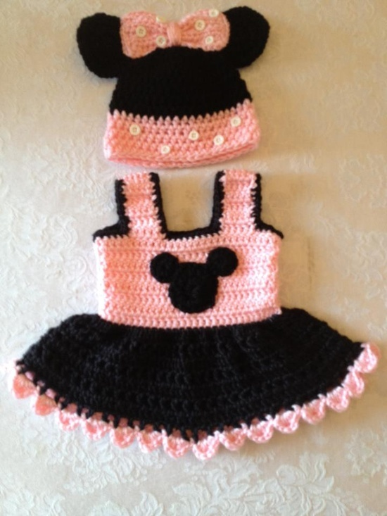 36 Best Minnie Mouse Images On Pinterest Knit Crochet Hand Crafts