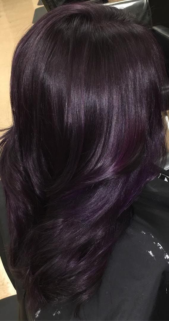 29 Dark Purple Hair Colour Ideas To Suit Any Taste In 2019 Hair Colour Style Dark Purple Hair Dark Purple Hair Color Hair Color Purple