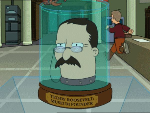 Theodore Roosevelt (voiced by Maurice LaMarche) on Futurama