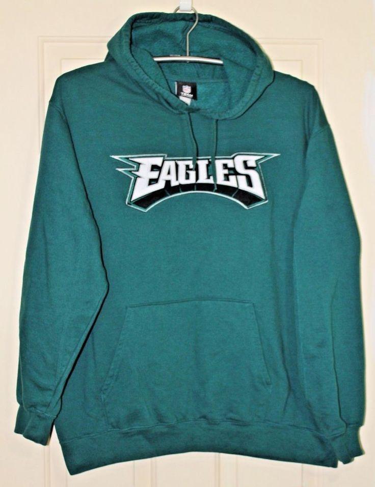 Philadelphia Eagles NFL Team Apparel Size XL Mens Hoodie Green Sweatshirt Pocket #NFLTeamApparel #PhiladelphiaEagles