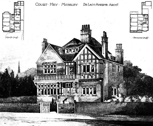 Court Hey, Moseley - William De Lacy Aherne - William de Lacy Aherne - Wikipedia, the free encyclopedia