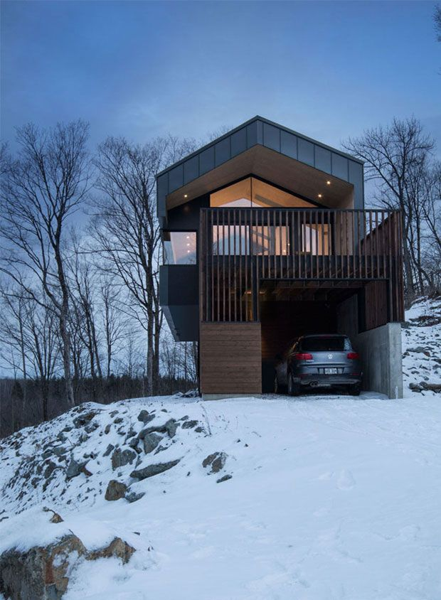 Awesome Montreal Based Naturehumaine Designed This Two Storey Country House, Called  Bolton Residence, Which Is In Perfect Symbiosis With Surrounding  Environment In ... Idea