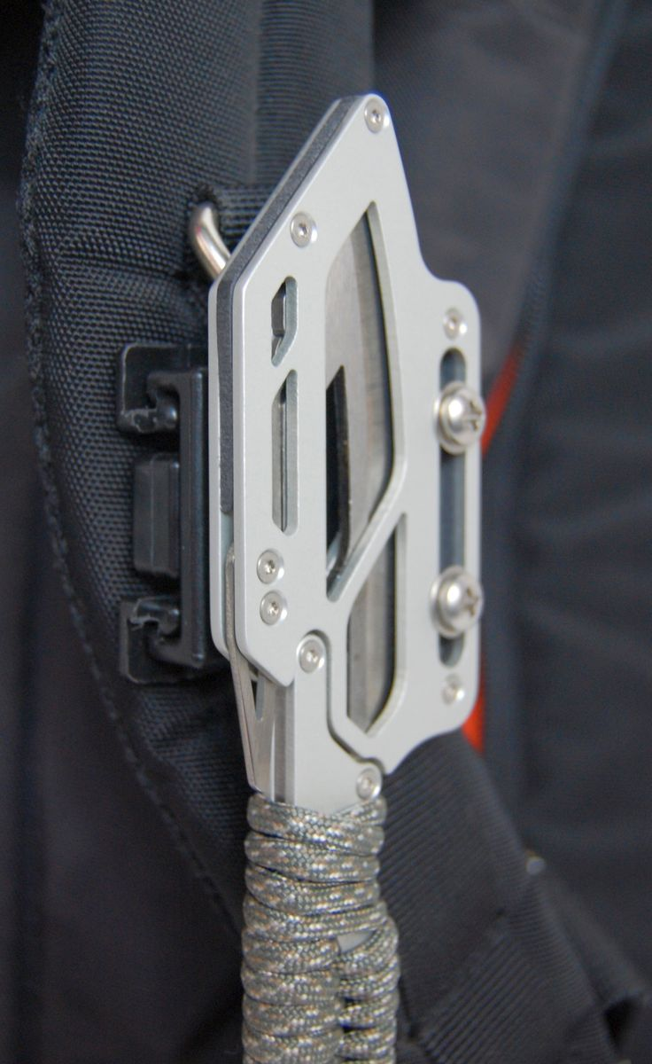 Knife on Pack Strap - for more info visit www.montiegear.com