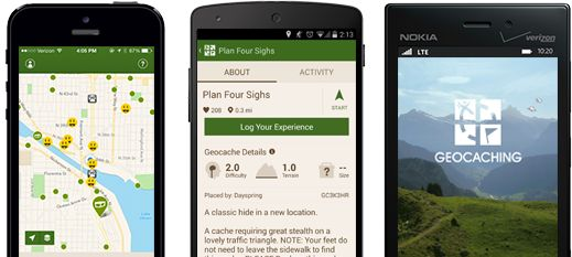Geocaching Apps: Begin your worldwide geocaching adventure with the free Geocaching Intro Apps. You'll be able to find nearby traditional geocaches, plus get tips and tricks along the way.