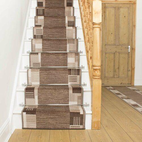 Best Alpena Twist Pile Light Brown Stair Runner Rosalind 400 x 300