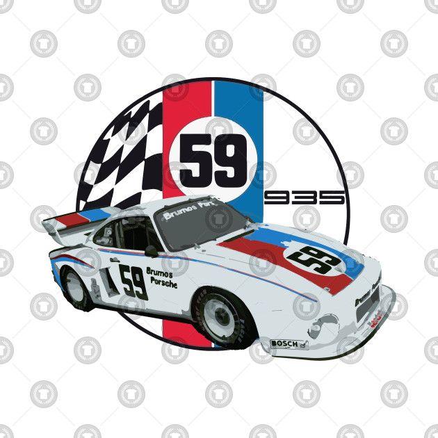 Check Out This Awesome Brumos Porsche 935 Imsa Racecar Design On Teepublic Porsche Classic Race Cars Race Cars