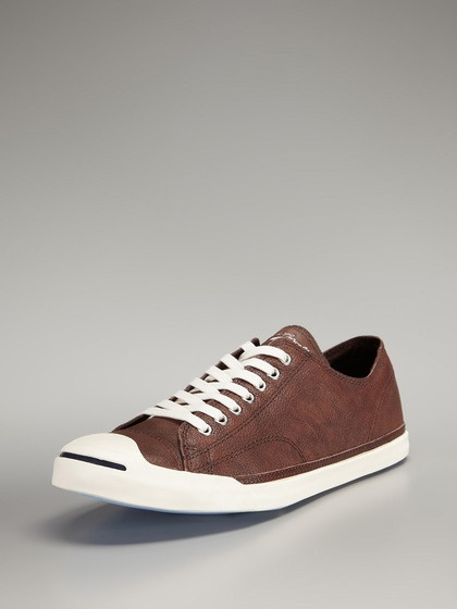 Converse  Pebbled Leather Low Top Sneakers  (chocolate milke)