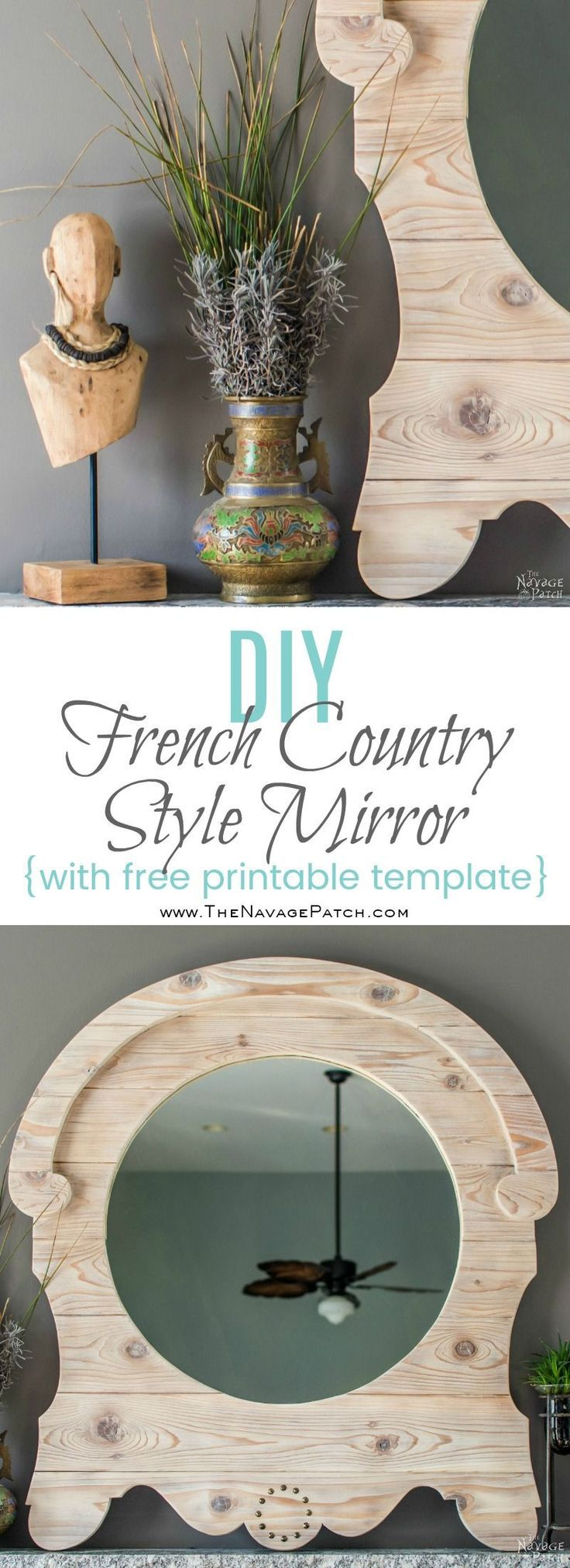 Hometalk diy christmas window decoration - Diy French Country Style Mirror Upcycled Mirror With A Diy Frame Diy Home Decor