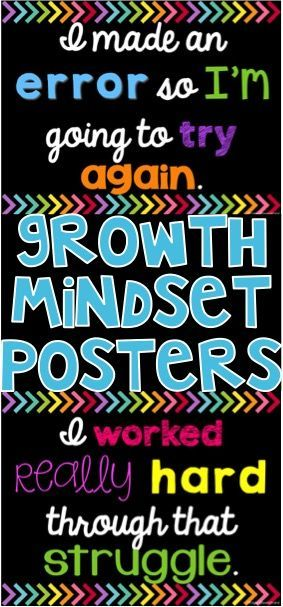 Growth Mindset Posters for your classroom with black backgrounds! 10 posters are…