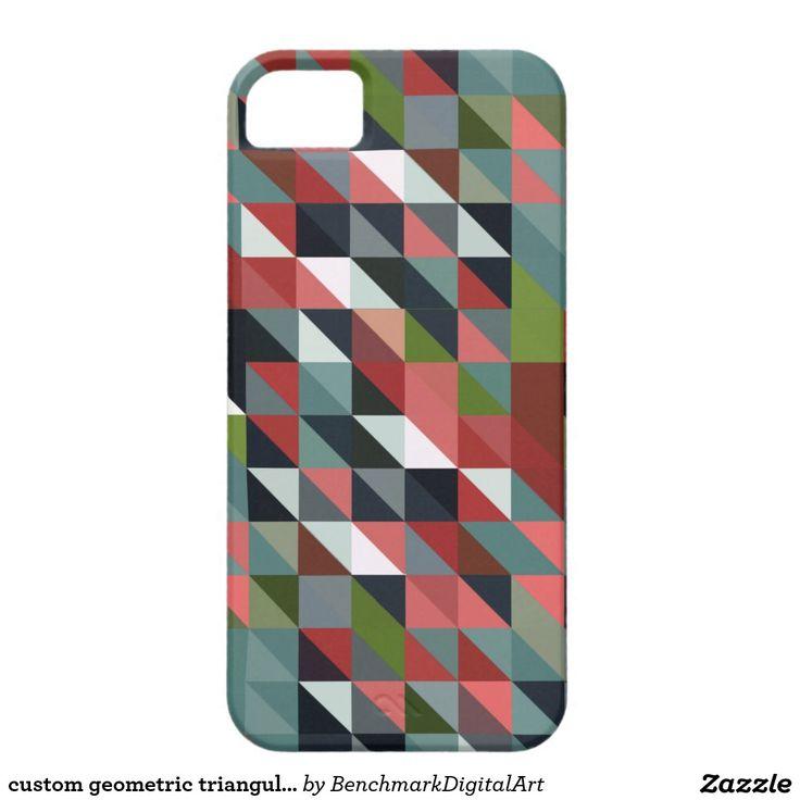 custom geometric triangular design iPhone case iPhone 5 Cases