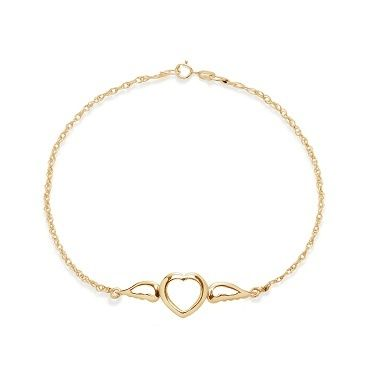 Lilou offers the Heart with wings on a 23k gold-plated chain bracelet. Show your love! #lilou #infinity #goldplated #chain #present #christmas #lessthan35