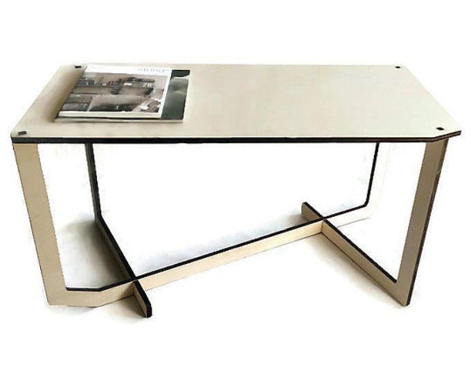 Mesa de centro rectangular de madera mesa moderna y minimalista, mesa, mesa de centro, mesa de madera, mesa de corte por láser