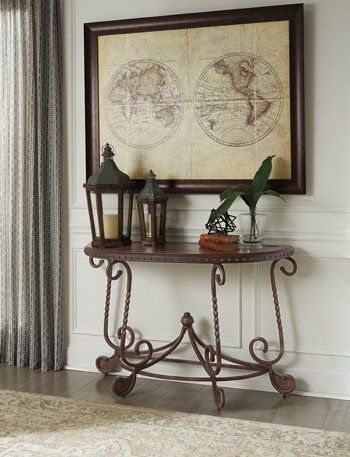 ashley furniture signature design rafferty sofa table traditional rh pinterest com Couch End Tables Classic Sofa Table