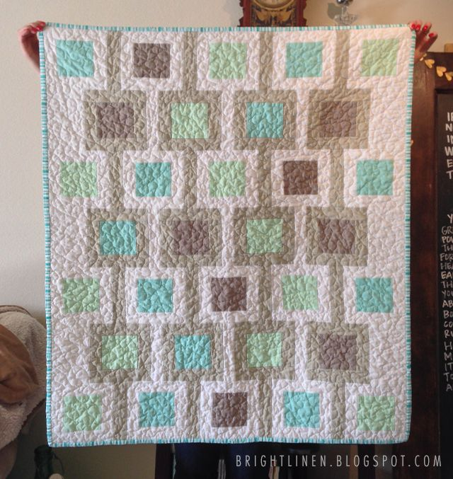 Square baby quilt bright linen sewing and quilting pinterest