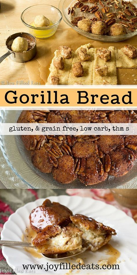 Gorilla Bread - Move over Paula Deen. This cream cheese filled cinnamon Gorilla Bread is low carb, sugar/gluten/grain free, THM S and just as delicious as yours!