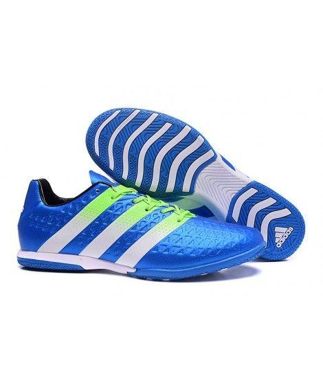 Adidas ACE 16.3 IN IC TIL INNENDØRS BRUK Fotballsko Blå Hvit Grønn