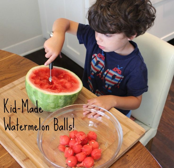 Watermelon Balls & Getting Your Kids Into the Kitchen