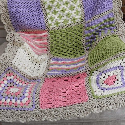 "Crochet Sampler Afghan - definitely going on the ""To-Do' List! Just need to figure out my color scheme! <3"
