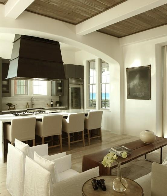 . Trisha Troutz,lovely neutral kitchen with a living space