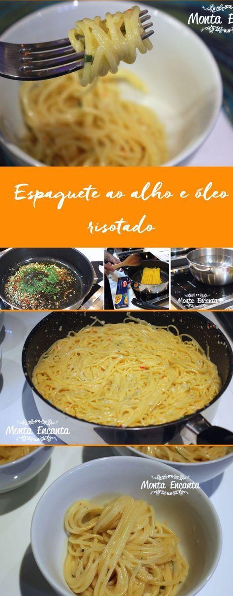 Alho, azeite e a pimenta compõem Espaguete ao alho e óleo risotado, sendo o alho, o principal responsável pelo sucesso ou o fracasso do prato.