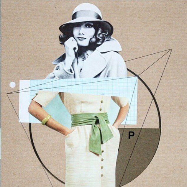 Paper collage goes vintage by David Diehl  | #illustration #fashion #vintage