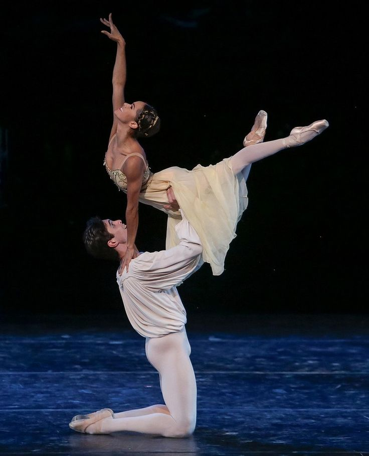 Misty Copeland & Alexandre Hammoudi perform the Romeo and Juliet pas de deux at the International Evening of Dance II program of the 2015 Vail International Dance Festival. Photo © Erin Baiano