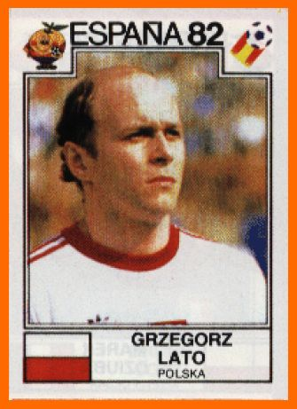 Grzegorz Lato (Poland, 1971–1984, 100 caps, 45 goals), 1982 FIFA World Cup Spain.