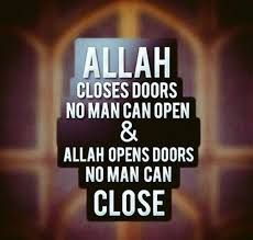 Allah opens doors that no man can close.   #Allah #Islam #Faith