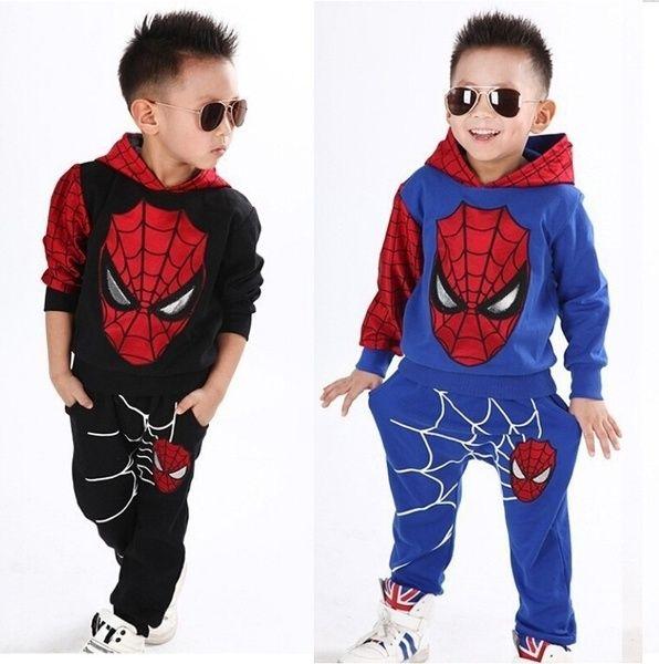 Spiderman Tracksuit Kids Boys Superhero Hoodie Top Pants Fancy Dress Costume Set