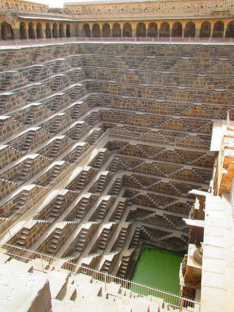 Chand Baori is maybe one of the most famous and most spectacular step-wells situated in the village of Abhaneri, Rajasthan, India. Constructed around 800AD.