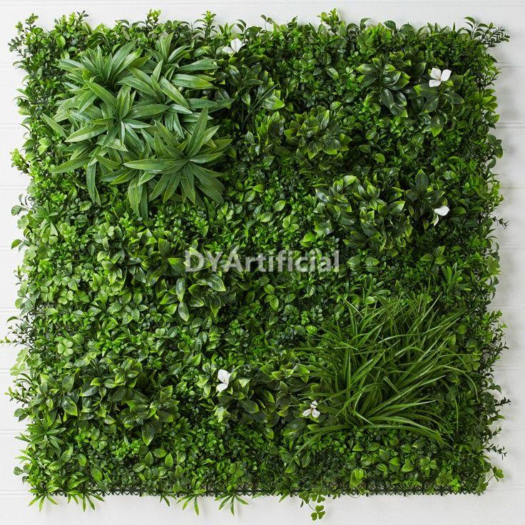 100x100cm Artificial White Flower Vertical Garden Plants Wall Panel