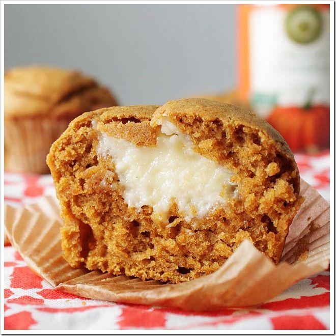 Pumpkin Cream Cheese Muffins.   Looks yummy!