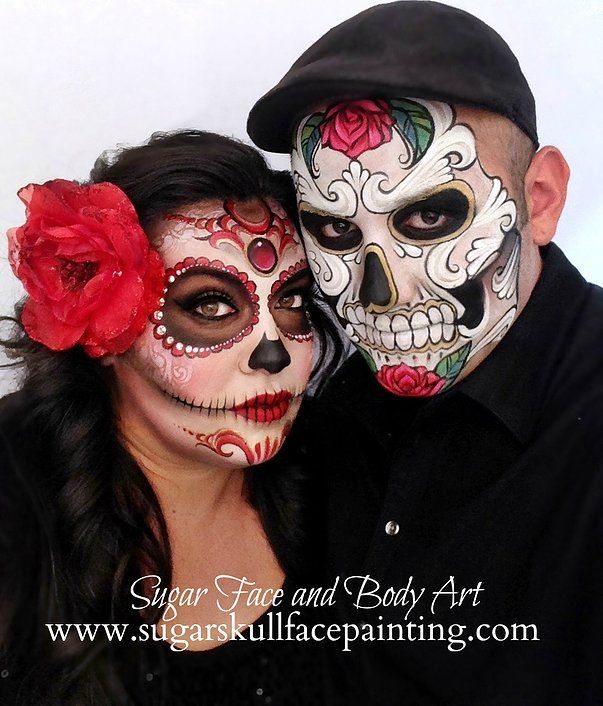we provide professional sugar skull face painting and body painting services in los angeles and orange county - Halloween Skull Face Paint Ideas