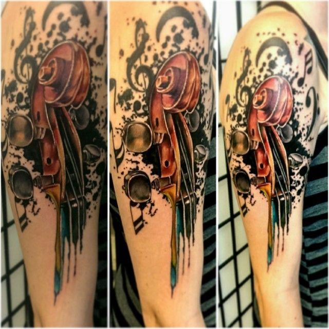 17 Best Ideas About Violin Tattoo On Pinterest