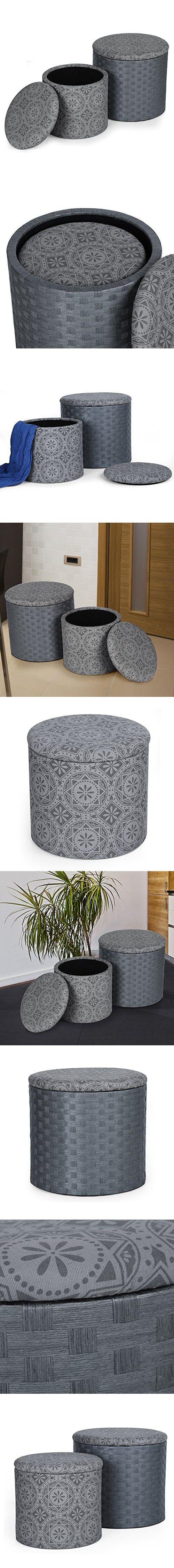Best 25 Round storage ottoman ideas on Pinterest
