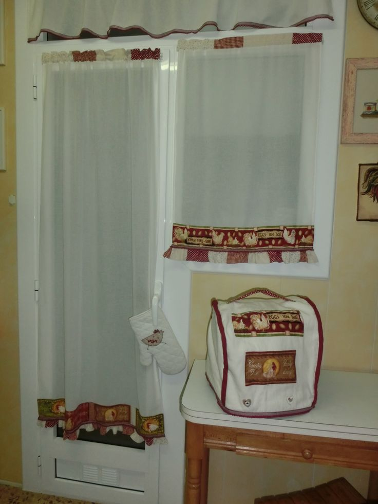 17 mejores im genes sobre cortinas cocina en pinterest - Visillos de cocina ...