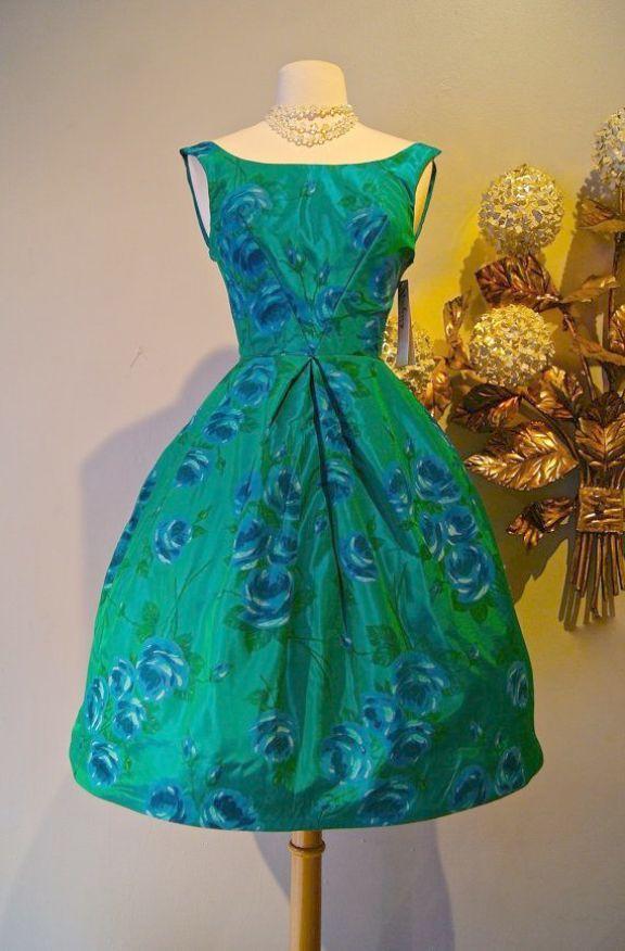 304960ec5b7 Vintage 1950s Black Tuxedo Party Dress Eliza J 50s Style Dress ...