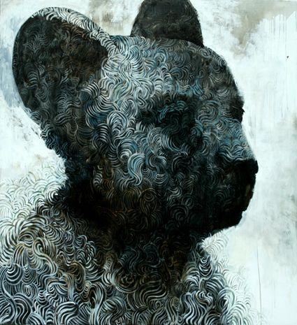 Visual artist Samuli Heimonen Hair. 175cm x 160cm. Acryl and oil on canvas. 2007