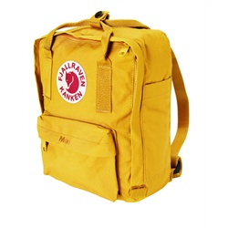 Fjällräven Kånken Mini warm yellow. Best kids rucksacks ever.