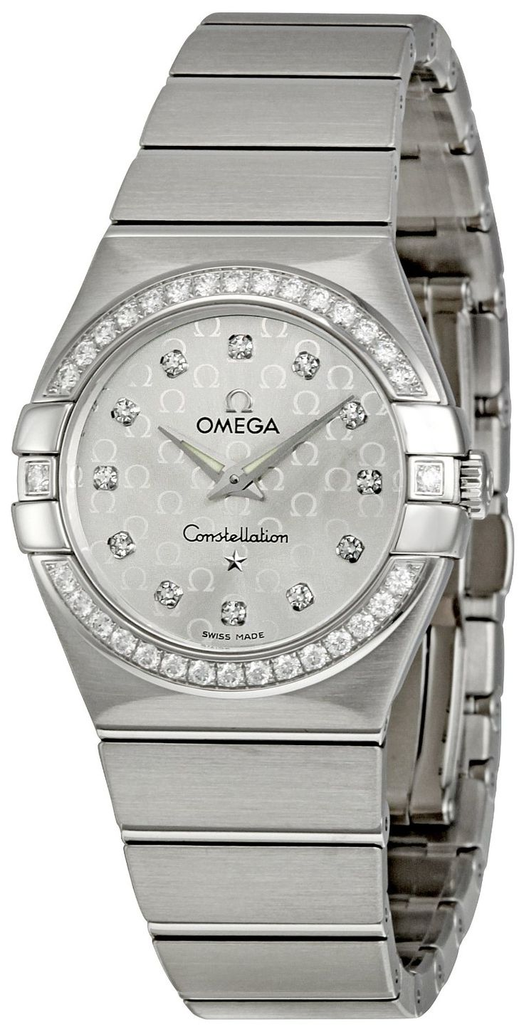 Omega Women's 123.15.27.60.52.001 Constellation Silver Dial Watch, (watches, metal banded, omega, swiss quartz, womens watches, beautiful omega constellation watch, beautiful piece, omega constellation, dress watches, omega watch)