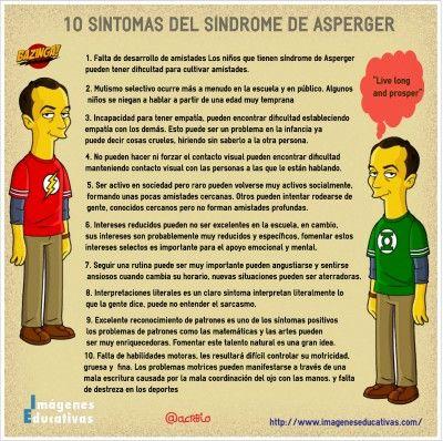10 síntomas del síndrome de #Asperger #infografía #salud vía: @acrebio www.imageneseducativas.com